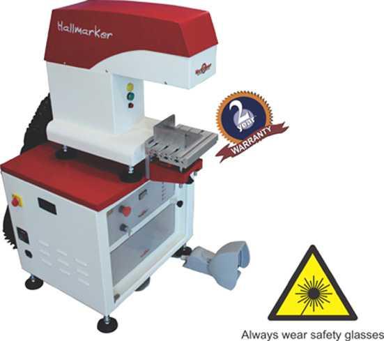Hallmarking on jewellery hallmarking laser machine